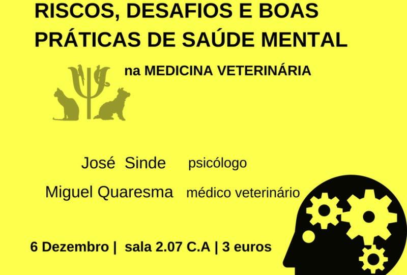 Saúde mental na medicina veterinária: AEMV da UTAD promove debate