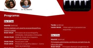Sociedade Portuguesa de Cardiologia Veterinária anuncia Workshop de Ecocardiografia