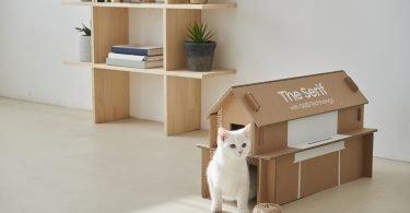 'Eco-packaging' da Samsung transforma-se em 'casas' para animais de companhia