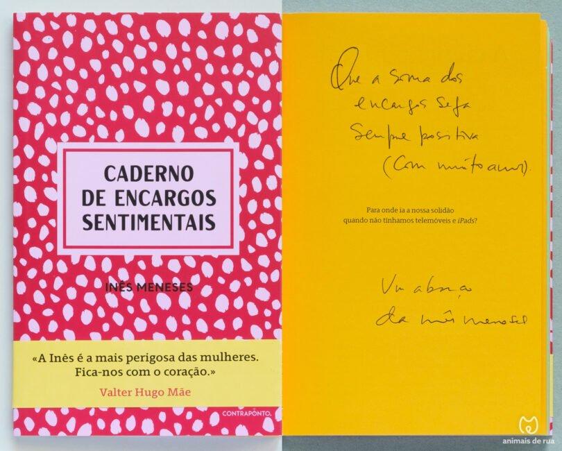 Livro Ines Meneses Caderno de Encargos