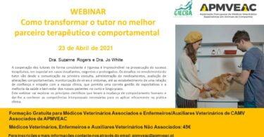 """A APMVEAC organiza, no próximo dia 23 de abril, o webinar """"Como transformar o tutor no melhor parceiro terapêutico e comportamental""""."""