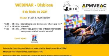 """A APMVEAC realiza no próximo dia 4 de maio, às 13h30, um webinar sobre """"Disbiose"""", com o orador Dr. Jan S. Suchodolski."""
