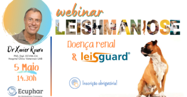 A Ecuphar está a organizar um webinar dedicado à leishmaniose canina – doença renal e o uso de Leisguard – que se realiza no dia 5 de maio.
