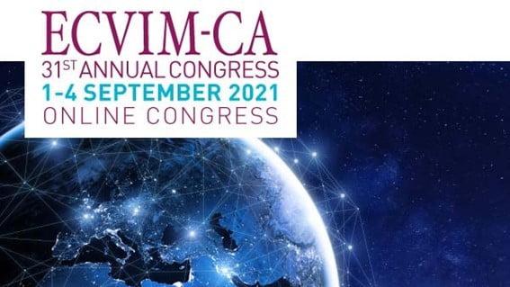 A ECVIM-CA, em colaboração com a ECVPT, organiza a 31º edição do ECVIM-CA 2021 Online Congress, que se realiza entre 1 e 4 de setembro.