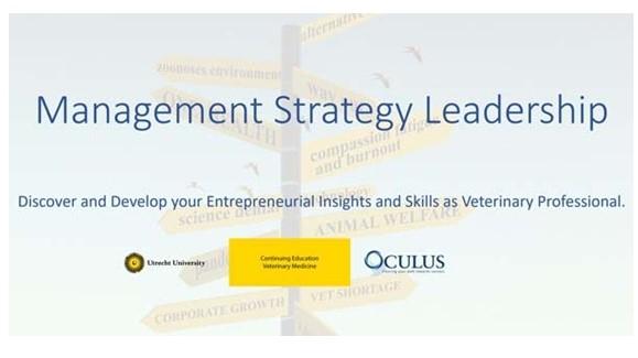"""A pós-graduação online """"Management, Strategy and Leadership for Veterinary Professionals"""" já tem as suas inscrições abertas."""