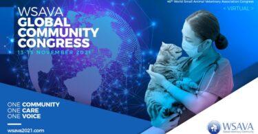 """A edição deste ano do Congresso Mundial da WSAVA passa a denominar-se """"2021 WSAVA Global Community Virtual Congress""""."""